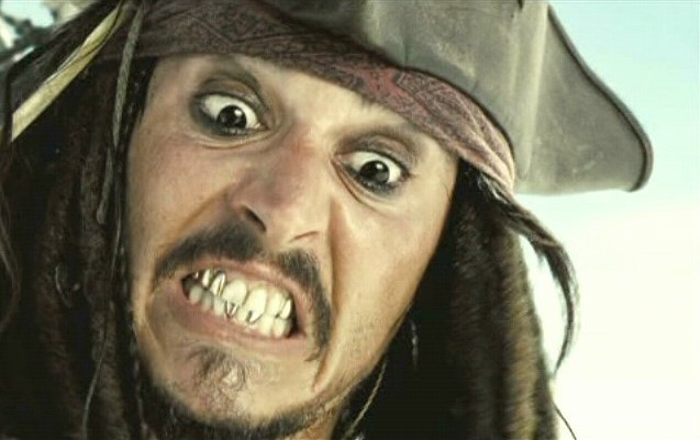 jack sparrow shows his teeth