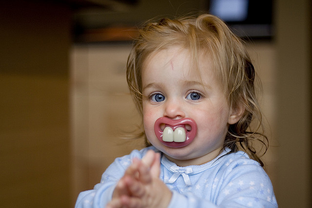 Pacifier with buckteeth