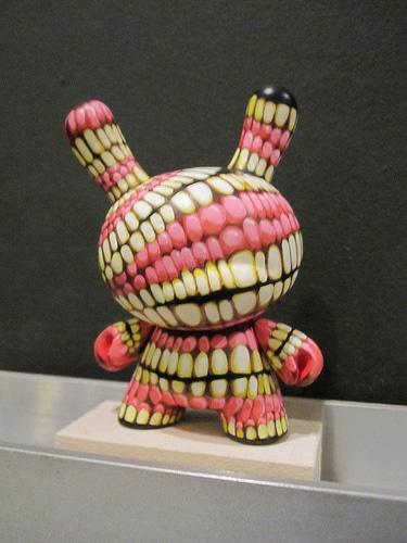 rabbit made of teeth