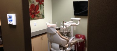 chair in a dentist's office
