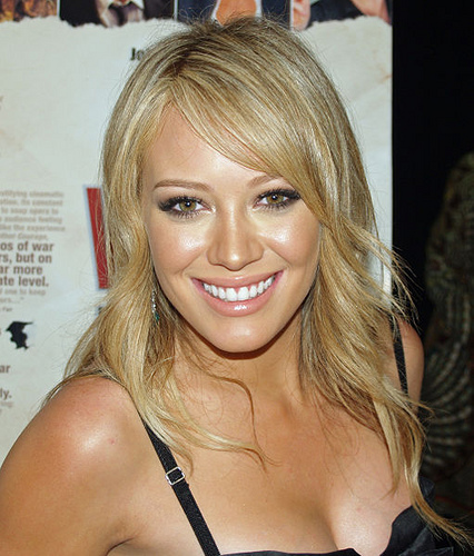 Hilary Duff smiling