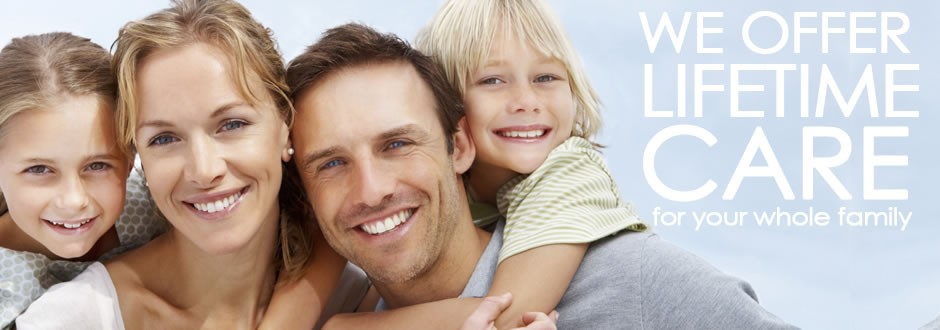 Family with healthy smiles