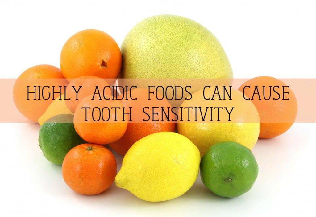 citrus fruits cause sensitivity