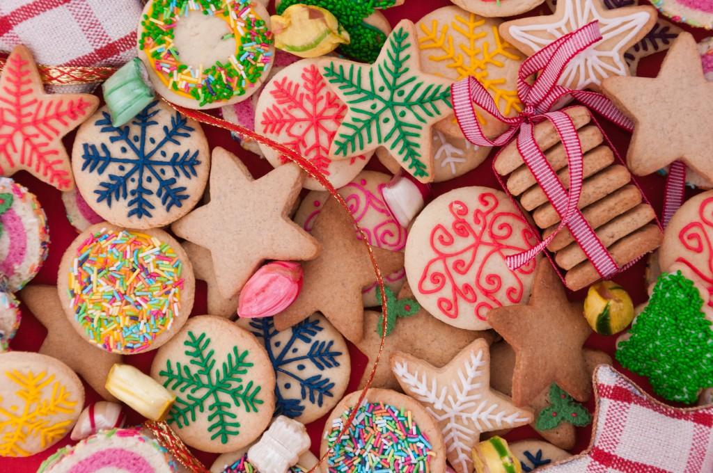 batch of christmas cookies