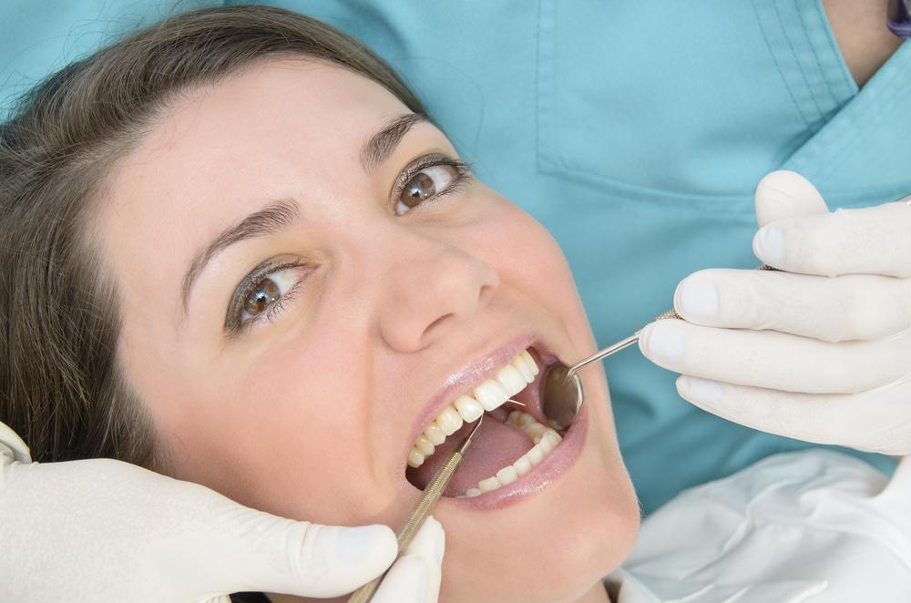 woman getting dental care