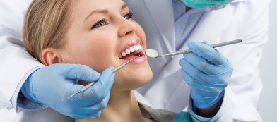 woman receiving dental care with financing in las vegas