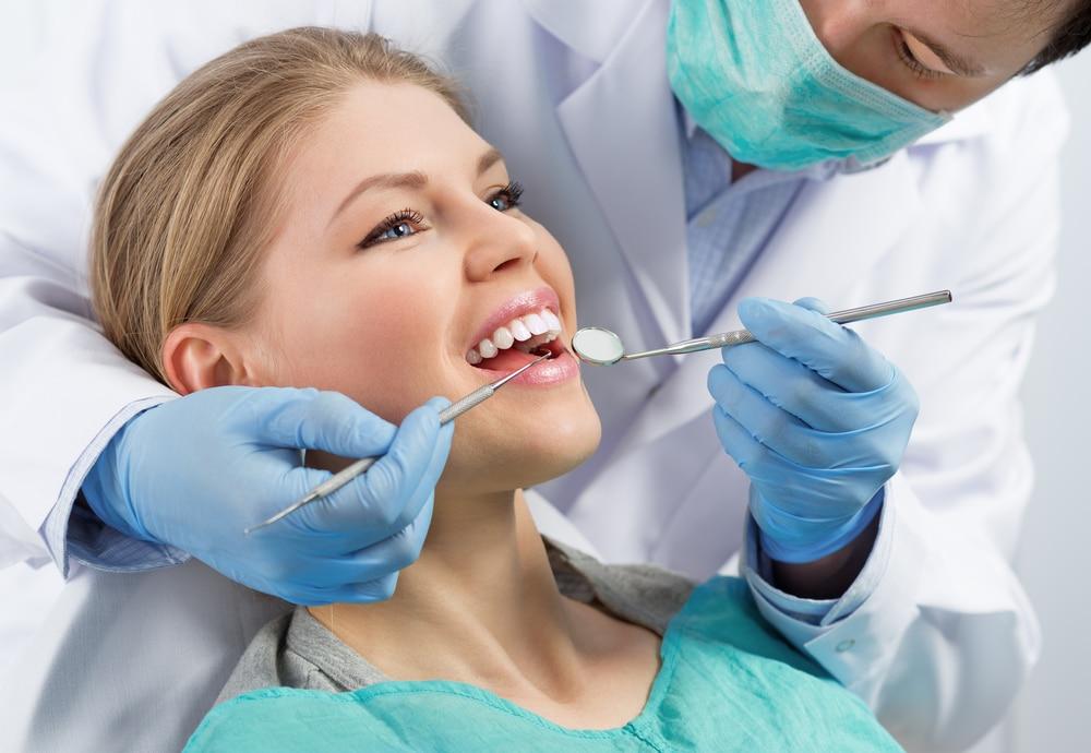 woman receiving dental care with financing in las vegas